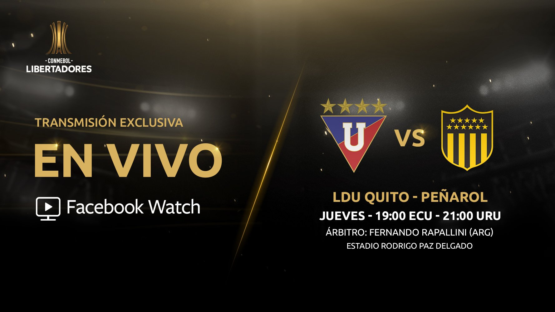 LIGA vs. Peñarol se verá en Facebook Watch